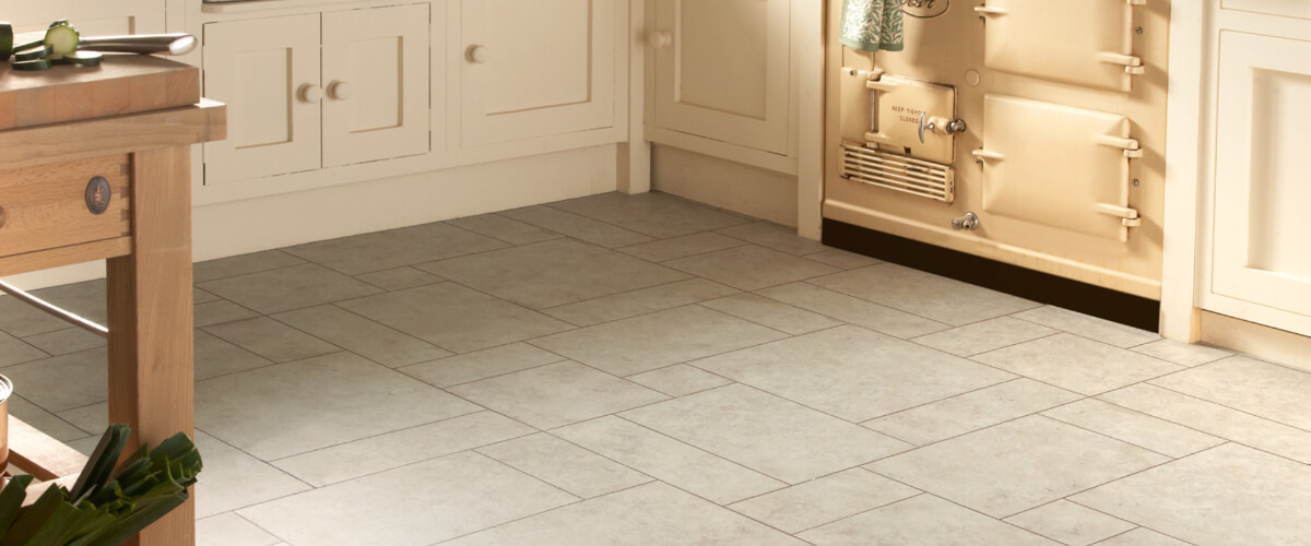 image of grey flooring in kitchen